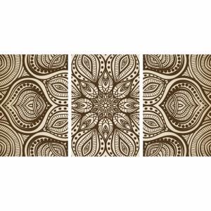 Quadro Decorativo Mandala Linhas em Marrom