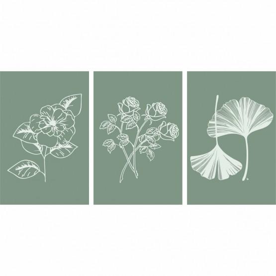 Kit de Molduras para Plantas Decorativas de Flores - Green Art