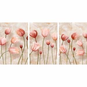 Quadro Flores Tulipas Efeito Mármore decorativo