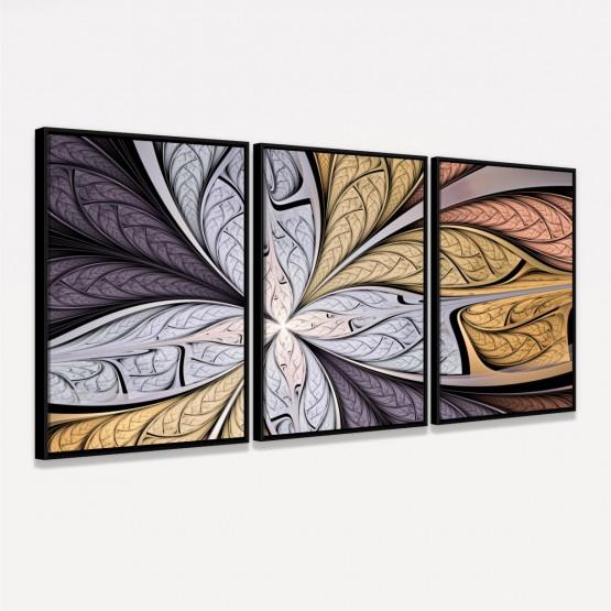 Quadro decorativo Flor em Arte Abstrata- Soft Colors